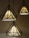 Diamond/Mini Pendant Lamp/1 Light/Modern Simplicity/Black & White/Finished/Carbon Steel/Cloth/Droplight