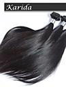 3 buntar 12-30 tum mänskliga peruanska jungfru hår naturliga färg rakt hår