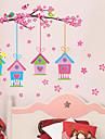 Botanique Romance Floral Stickers muraux Stickers avion Stickers muraux decoratifs,Vinyle Materiel Repositionable Decoration d\'interieur