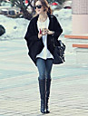 kvinners svart / beige cardigan, uformell langermet