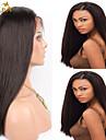 """8 """"-26"""" indian jungfru hår rakt limfria fullt spets peruk färg # 2 med baby hår för svarta kvinnor"""