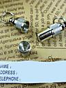 Chat / Chien Etiquettes / Tags ID Securite Solide Argent Aluminium