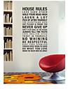 regulile casei armonie in casa citat de perete Decal zy8010 ADESIVO de Parede vinil detașabil perete autocolant