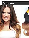 12-26inch 1b / 27 # mix längd ombre förkroppsligar vinkar brasilianskt jungfruligt hår