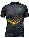 JESOCYCLING® Maillot de Cyclisme Femme / Homme Manches courtes VeloRespirable / Sechage rapide / Resistant aux ultraviolets / Zip frontal