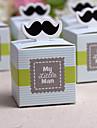 """""""My Little Man"""" Moustache Favor Box(Set of 12)"""