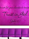 citat decalcomanii perete încredere este Dumnezeu închiriere detașabil stickere de perete citat de vinil decor acasă zy8198