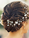 Women\'s Imitation Pearl Headpiece-Wedding / Special Occasion Hair Pin 6 Pieces