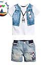 Fecioresc Fecioresc Set Îmbrăcăminte Vară Imprimeu Amestec Bumbac