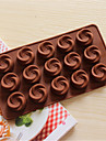 bakeware silikon virvel formade bakning formar för choklad