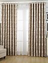 Deux Panneaux Le traitement de fenetre Neoclassique Mediterraneen Rococo Baroque Europeen Designer Rustique Moderne Chambre a coucher