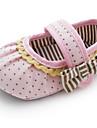 Fille-Habille-Rose-Talon Plat-Premieres Chaussures / Chausson de Berceau-Ballerines-Coton