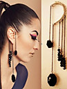 Earring Ear Cuffs Jewelry Women Wedding / Party / Daily / Casual Alloy 1pc Black