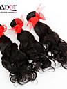"""3st lot 12-28 """"brasiliansk obearbetade vatten wave wavy jungfru hårwefts naturligt svart rå remy människohår väva buntar"""