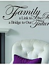 famille alinktopassed, un avenir bridgetoour decalque de mur de devis zooyoo8025 amovible en vinyle autocollant de mur bricolage