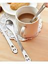 rostfritt stål sked te kaffe dricker sked tesked bröllopspresenter