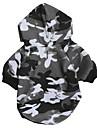 Chat Chien Pulls a capuche Vetements pour Chien Decontracte / Quotidien Mode camouflage Gris