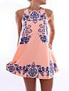 Women\'s Sexy Print Strap Mini Dress
