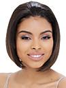 Capless brun färg korta rakt hår peruk syntetiska peruker nyanländ