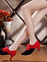 Non Customizable Women\'s Dance Shoes Belly/Salsa/Samba Velvet/Synthetic Stiletto Heel Black/Blue/Multi-color