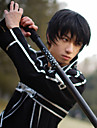 Perruques de Cosplay Sword Art Online Kirito Noir Court Anime Perruques de Cosplay 10 CM Fibre resistante a la chaleur Masculin