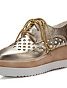 Pantofi pentru femei - Imitație de Piele - Toc Pană - Vârf Pătrat - Oxford - Birou & Carieră / Rochie / Casual -Negru / Roz / Alb /