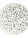 100g beadia (aprox 1000pcs) abs margele perla de 6mm plastic de culoare distanțare mărgele pierde runda albe pentru a face bijuterii DIY