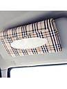 voiture pare-soleil boite de tissu accessoires automobiles titulaire serviette en papier presse-papiers etui en cuir PU