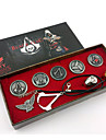 Assassin\'s Creed Alloy Emblem Ring Necklace Set
