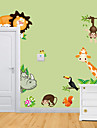 stickers muraux stickers muraux, animal zoo pvc stickers muraux