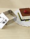 3\'\'mousse verktygssats av kubisk mousse ring med körhandtaget ostkaka mögel rostfritt stål