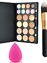 Pro Party 20 Colors Contour Face Cream Makeup Concealer Palette + Powder Brush+Powder Puff
