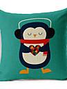 färgrik ballong lyssna på pingvinen av musiken mönstrade bomull / linne dekorativa kuddöverdrag
