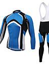 XINTOWN® Maillot et Cuissard Long a Bretelles de Cyclisme Homme Manches longues VeloRespirable Resistant aux ultraviolets Vestimentaire