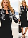 Robes ( Coton melange ) Vintage/Sexy/Soiree Manches longues pour Femme