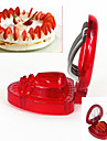 1 pieces Fraise Cutter & Slicer For Pour Fruit Acier Inoxydable / Plastique Creative Kitchen Gadget