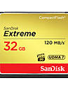 SanDisk 32Go CompactFlashMax Read Speed120 (MB/S)Max Write Speed120 (MB/S)