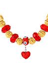 topgold plaque or nouveau perles europeennes charme coeur collier collier de strass swa 18k pour les femmes de 50cm de haute qualite