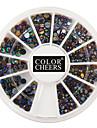 400pcs mixs storlek färgade diamanter nail art dekorationer