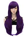 70cm de style perruques naturelles femmes de la mode droites du parti chauffent resister cosplay synthetique costume perruque violette