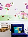 vägg klistermärken väggdekaler stil trollslända blomma gräs pvc väggdekorationer
