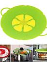 outils cuisson fleur silicone couvercle deversement bouchon couvercle de couvercle en silicone pour pan (de couleur aleatoire)