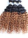 1 st. Lockigt Human Hair vävar Peruanskt hår Human Hair vävar Lockigt
