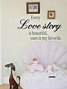 väggdekorationer väggdekaler stil varje kärlekshistoria engelska ord&citerar pvc väggdekorationer