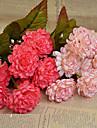 Une succursale Polyester Chrysantheme Fleur de Table Fleurs artificielles 16.51(6.5\'\')