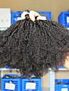 """3pcs / lot 10 """"-26"""" indian jungfru hårfärg naturligt afro svarta kinky lockigt människohår väver"""