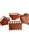4st tekanna&klocka mönster tårta och cookie cutter mögel
