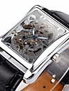 WINNER Bărbați Ceas de Mână ceas mecanic Mecanism automat Gravură scobită PU Bandă Luxos Negru Argintiu Auriu