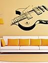 stickers muraux de style de decalcomanies de Wall Mur personnalite guitare pvc autocollants