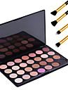Earth Tone 28 Color Neutral Warm Eyeshadow Cosmetic Palette Eye Shadow Makeup Kit + 4PCS Pencil Makeup Brush
